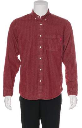 Supreme Herringbone Button-Up Shirt