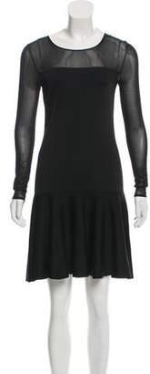 Ralph Lauren Sheer-Paneled Silk Dress w/ Tags