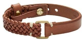 Fossil Vintage Casual Brown Leather Bracelet