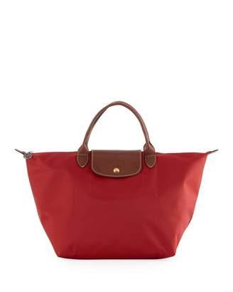 Longchamp Le Pliage Medium Shoulder Tote Bag, Red