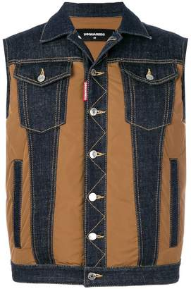 DSQUARED2 padded denim gilet
