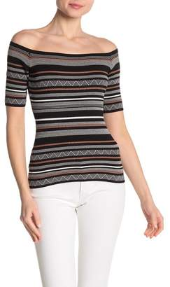 Bailey 44 Lasso Striped Off-the-Shoulder Sweater