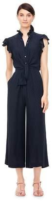 Rebecca Taylor Heart Jacquard Silk Jumpsuit