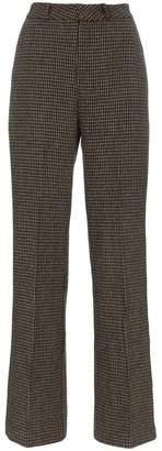 Charm's high-waisted wide leg tweed trousers