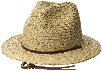 6d2c9f7fed404 Brixton Men s Levon Short Brim Straw Fedora Hat