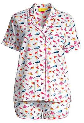 Roller Rabbit Two-Piece Funny Birds Pajama Set