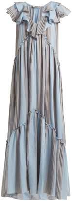THREE GRACES LONDON Wilhemina striped cotton maxi dress
