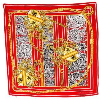 Adrienne Vittadini Silk Printed Scarf