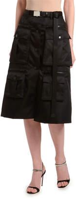 Prada Utility Pocket Gabardine Cargo Skirt
