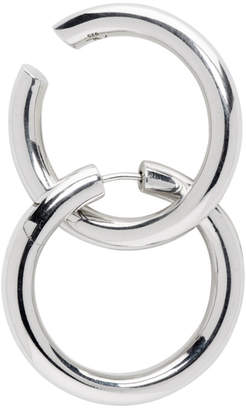 Alan Crocetti Silver Loop Hole Set Earrings