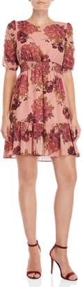 Betsey Johnson Floral Ruffled Dress
