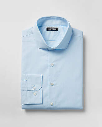 Express Extra Slim Striped Spread Collar Shirt
