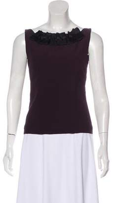 Miu Miu Sleeveless Fitted Blouse