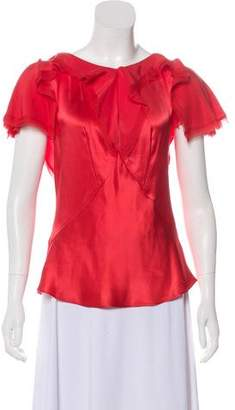 Zac Posen Silk Frayed Top w/ Tags