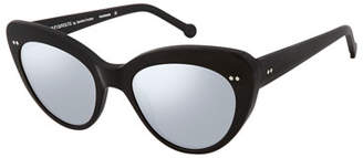 ec032a26109 Colors In Optics Lolita II Flash Lenses Cat-Eye Sunglasses