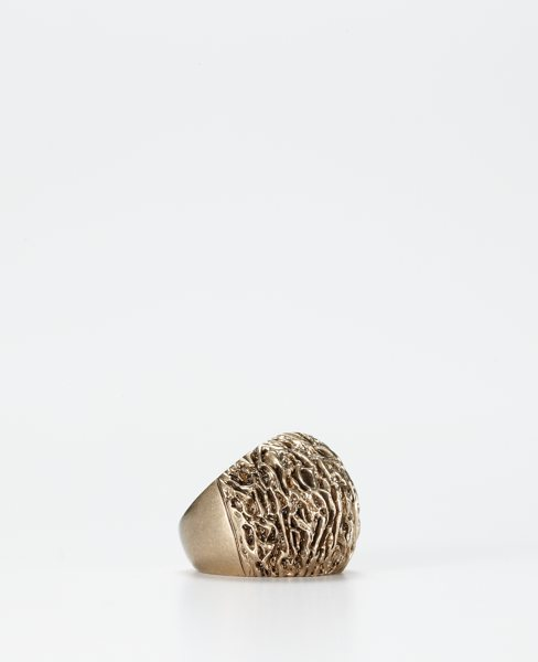 Coralized Gold Plate Ring