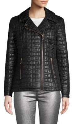 Kate Spade Quilted Notch Lapel Puffer Jacket