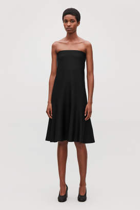 Cos STRAPLESS KNITTED DRESS