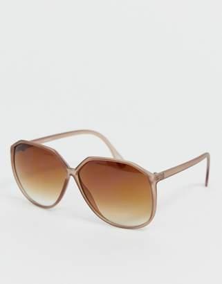 Asos Design DESIGN angular 70's oversized sunglasses