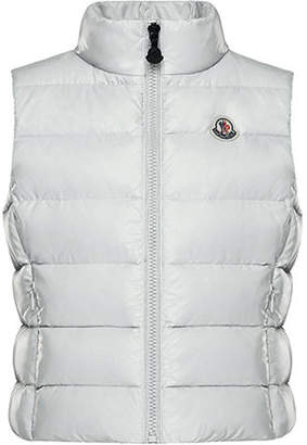 Moncler Ghany Quilted Puffer Vest, Size 4-6