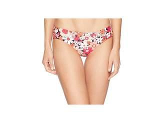 MICHAEL Michael Kors Cherry Summer Flower Shirred Smooth Fit Cheeky Bikini Bottoms