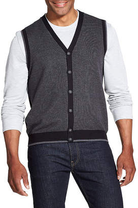 Van Heusen Novelty Button Front Sweater Vest Vest