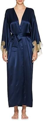 GILDA & PEARL Women's Gina Lace-Trimmed Silk Kimono