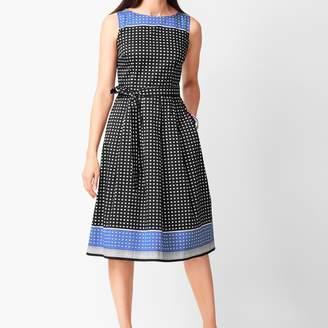 Talbots Geo-Print Fit & Flare Dress