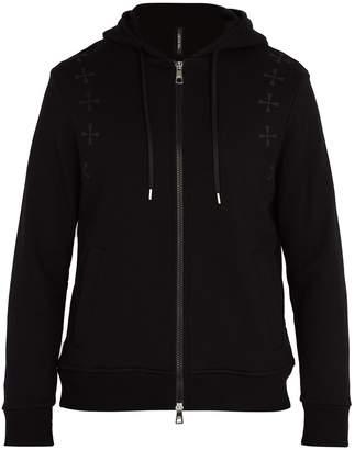 Neil Barrett Military star hooded cotton sweatshirt