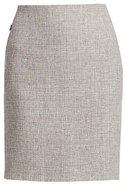 Akris Women's Linen & Wool Pencil Skirt