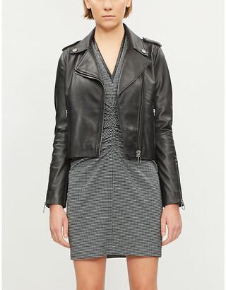 f43ce268570 Pinko Tenaglia leather jacket