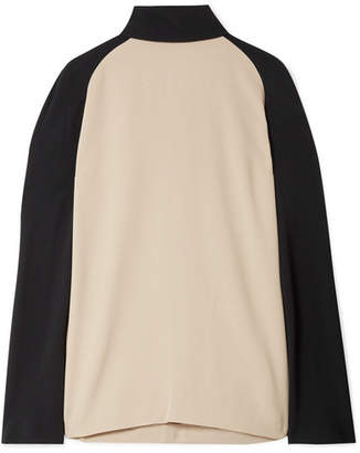 Haider Ackermann Two-tone Crepe Blouse - Ecru