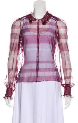 Louis Vuitton Mesh Long Sleeve Top