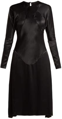 Vivienne Westwood Panelled long-sleeved satin dress