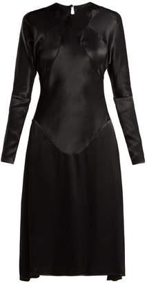 Vivienne Westwood Panelled long-sleeved satin dress