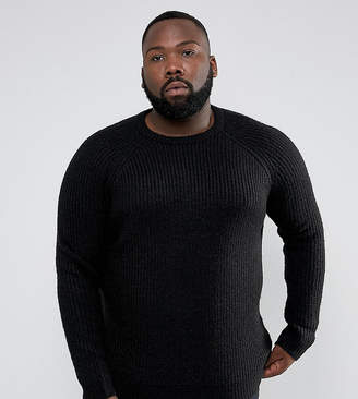 D Struct D-Struct PLUS Chunky Ribbed Crew Neck Jumper