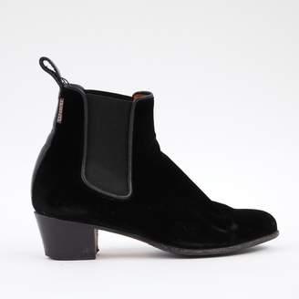 Penelope Chilvers Black Velvet Ankle boots
