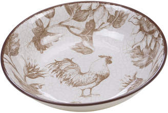 Certified International Toile Rooster 13In Serving/Pasta Bowl