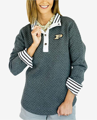 Couture Gameday Women Purdue Boilermakers Snap Quilted Pullover