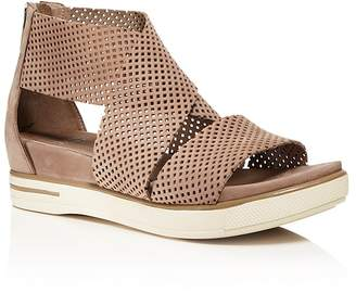 Eileen Fisher Perforated Nubuck Leather Sandals $225 thestylecure.com