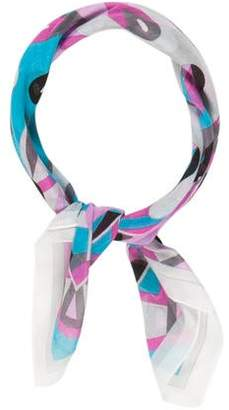 Emilio Pucci Abstract Printed Cotton Scarf