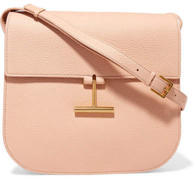 TOM FORD - T Clasp Textured-leather Shoulder Bag - Blush