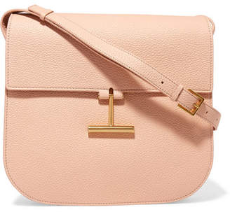 TOM FORD - T Clasp Textured-leather Shoulder Bag - Blush $1,990 thestylecure.com