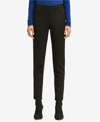 DKNY Faux-Suede Pull-On Pant
