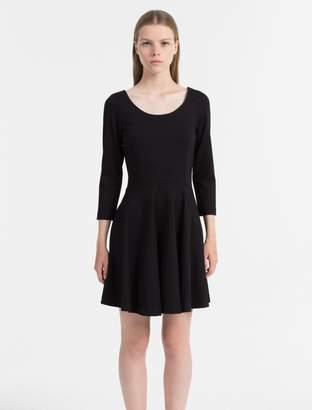 Calvin Klein milano jersey fit + flare dress