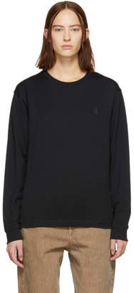 Acne Studios Black Elwood Face Long Sleeve T-Shirt