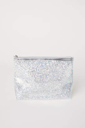 H&M Makeup Bag with Sequins - Silver