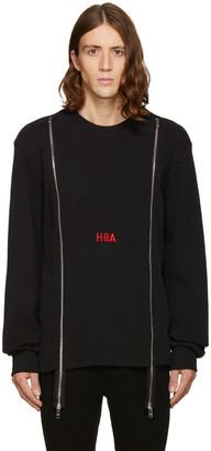 Hood by Air Black Thermal Double-Zip Pullover $240 thestylecure.com