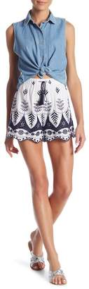Romeo & Juliet Couture Woven Eyelet Shorts