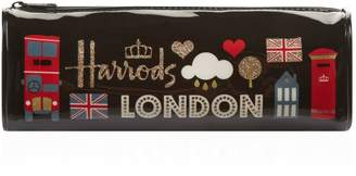 Harrods Glitter London Pencil Case